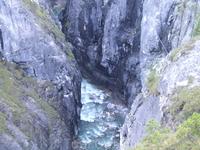 Ущелье с горной рекой