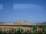 """Вид на гору """"влюбленных"""" в форме лица индейца по дороге из Севильи."""