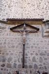 Распятие Иисуса на стене в Толедо.
