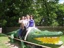 Покатались на крокодиле)))