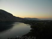 озеро Курнос и море