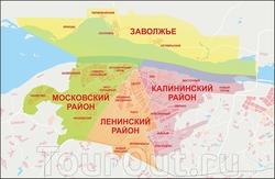Карта Чебоксар с районами