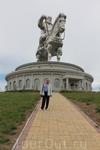 Вид на памятник Чингисхану