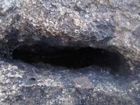 Глубокий вырез в камне.