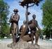 """Скульптурная композиция """"Древо жизни"""" - символ культурного наследия народа мари. Композиция символизирует единение поколений: три музыканта старшего, среднего ..."""