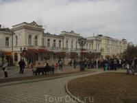 Кусочек центра Кисловодска. Пешеходная улица.