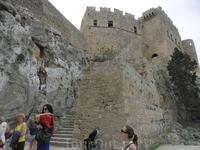 Крепость Линдос на Родосе.