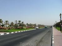 А потому в центре университета расположены широкие дороги, прямо магистрали