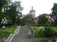 Пешеходные улочки города Пфорцхайма... Не Потемкинская лестница, но не менее красиво...