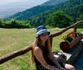 Вид с Олимпа на долину Платомонос и Эгейское море