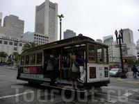 Следующий пункт нашей программы - Сан-Франциско. Город поразил своими дорогами, под углом 30 градусов:)) Спуск-подъем-спуск-подъем.  Там ходить-то сложно ...