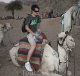 мой сын впервые садится на верблюда :))