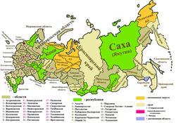 Карта регинов России