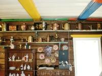 Экспонаты музея чайников