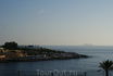 вид с набережной на Средиземное море.