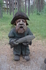 Это старый Петерс , один из героев легенд Куршской косы. Водяной , обливал рыбаков водой ,  хулиганил до самой старости, потом исправился , подружился ...