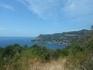 вид с дороги на пляж Liniodoros