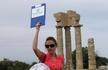 Акрополь. Колонны храма Аполлона Пифийского. Наш гид Елена