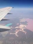 Летели мы над Украиной, а там вот Это!что за водоемы я не знаю,но это их натуральные цвета!