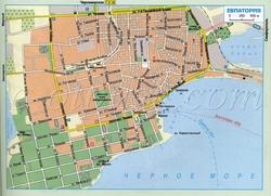 Карта Евпатории с улицами