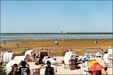 Так выглядит типичный для Северного моря пляж.