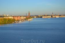 Панорама Стокгольма с моста Вестерброн