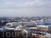 вид на город с колоннады Исаакиевского собора