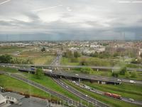 вид из окна отеля на Милан