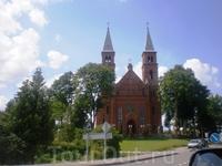 Одна из церквей, встретившихся по дороге в Литве