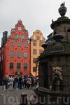 Центральная площадь Гамла Стана – площадь Стурьторьет – со старым пересохшим колодцем.