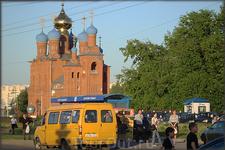 проспект Тракторостроителей . Храм Св. новомучеников и исповедников Российских.
