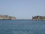 Вид на Большую гавань. Слева - сады, справа- Сенглея.