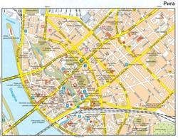 карта риги на русском языке с достопримечательностями скачать