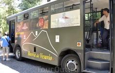 На автобусе возвращаемся в Помпеи