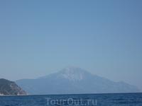 гора Афон с моря