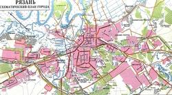 Карта города Рязань