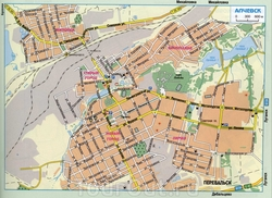 Карта Алчевска