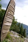 """Какой-то """"знак"""" на горе. Местные жители не смогли объяснить"""
