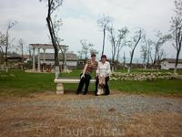 На скамейке.Парк в греческом стиле. Таманское городище Гермонасса-Тмутаракань, является одним из уникальных археологических памятников на территории Российской ...