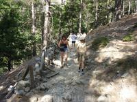 ущелье Самария - первые 3 км пешеходный серпантин