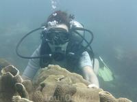 На 10 м. под водой