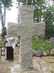Труворов крест, недалеко от Изборской крепости.  Сколько бы не говорили археологи. что не имеет он отношения к брату Рюрика - народная молва всесильна ...