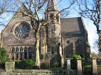 Местная  небольшая церквушка в одном из тихих районов Эдинбурга.
