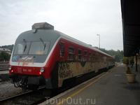 Дизель-поезд, на котором я ехал от Новой-Горицы до Сежаны
