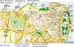 Карта Керкиры на русском