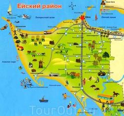 Карта Ейского района