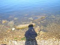 Моя тень на берегу Адриатики.Медулин