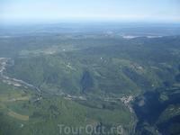В самолете Люфтганзы над Женевой. Вот-вот начнутся Альпы