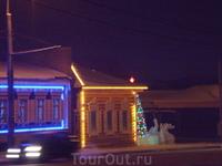 Квартал старых,восстановленных, домов в Иркутске