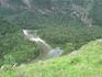 Слияние Чебдара и Башкауса. Состав воды разный. В Чебдаре много извести и он кажется чище. Но на самом деле Башкаус тоже очень чистая река